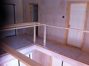 New staircase & interior